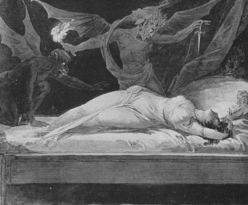 The Dream of Eleanor, c. 1795, by G. Kininger (Scanned from a Fuseli art-book)