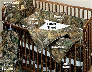 Find more baby camo bedding at The Camo Shop.