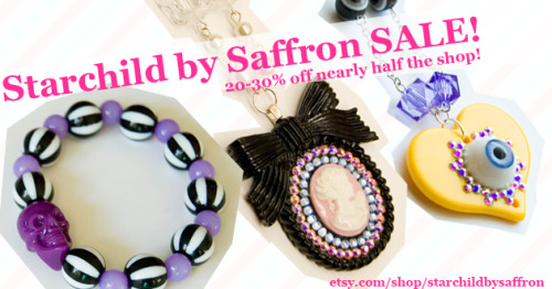 starchildbysaffron:  I'm having a huge sale, nearly half my items are discounted! Please have a look in my shop ♥ http://www.etsy.com/shop/StarchildBySaffron?section_id=11651128