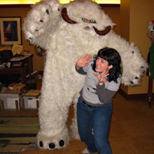 bonniegrrl:  Nothing burns more calories than a Wampa attack! #starwars (Taken with instagram)  I want to be Bonnie when I grow up. #goals