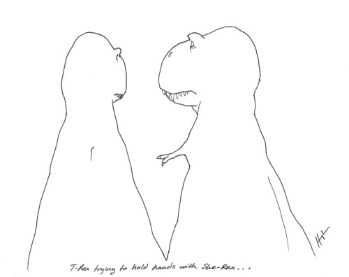 T-Rex Trying to Hold Hands with She-Rex… #TRexTrying