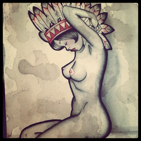Finally get to tattoo this old painting I did next week! Trashyyetclassy.tumblr.com