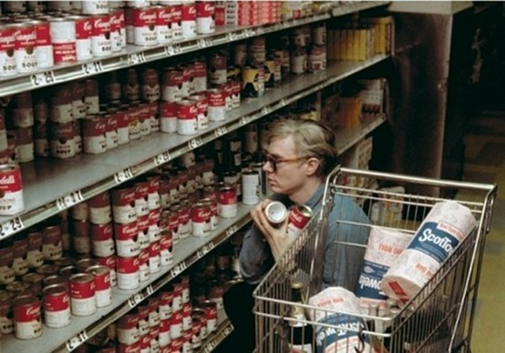 *Photo Flashback* Andy Warhol buying soup cans. circa 1962
