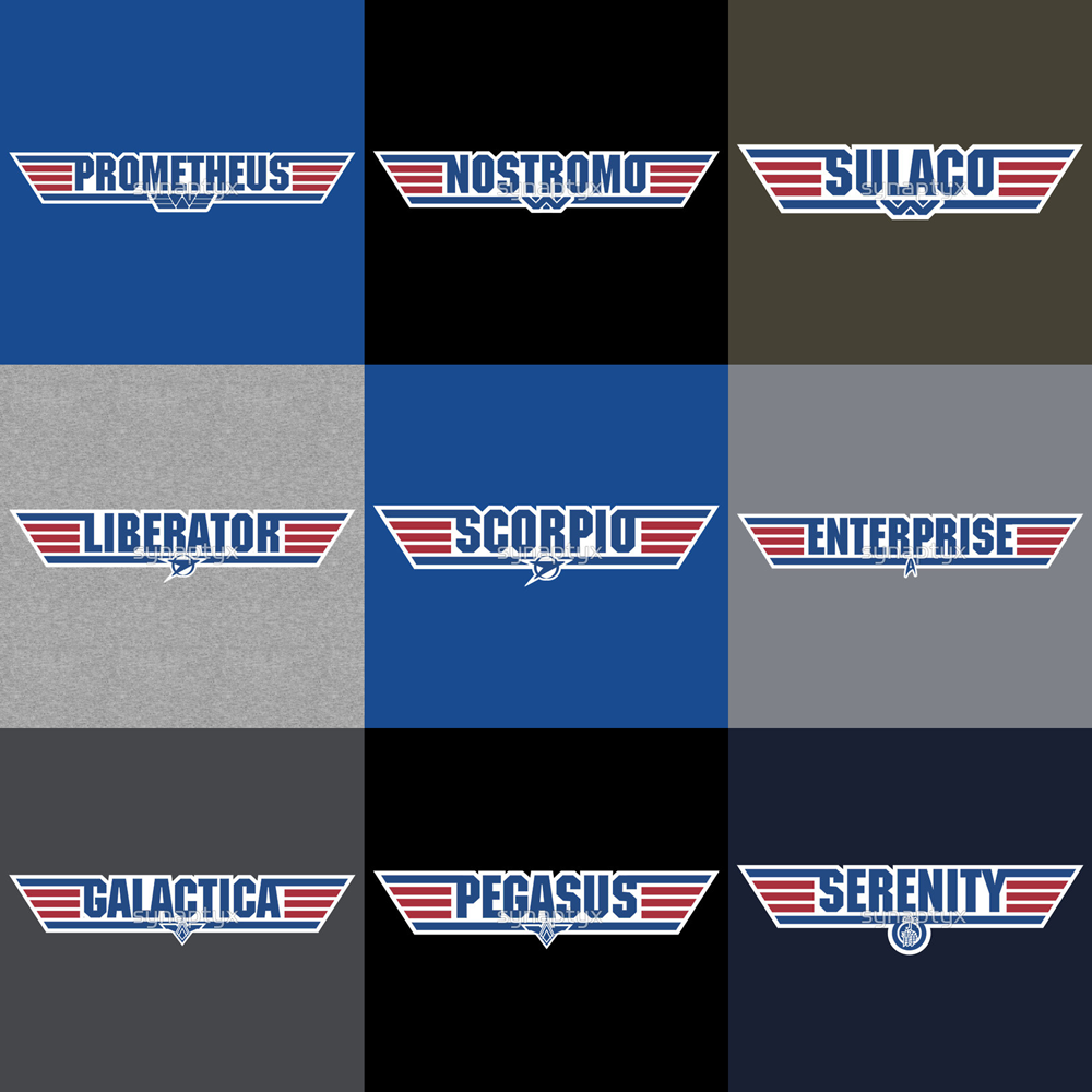 Top Gun Starships apparel and iPhone covers available, now at Redbubble. :)