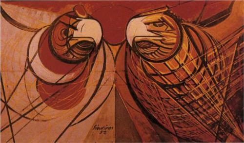 New University Emblem - David Alfaro Siqueiros 1952 Mural Design