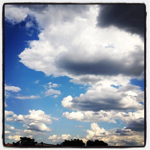 Sorry, I just never get tired of pictures of clouds. (Taken with Instagram at Threespot)