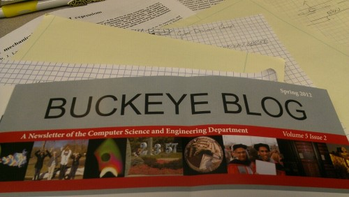 "It's funny to me when a CSE department uses ""blog"" in the title of their paper newsletter."