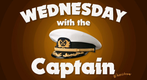 "Wednesday with the Captain – 6/6/12 A Predictable, but Slightly Bothersome Note – My band practices near a bar that we're particularly fond of hanging in. We often congregate there after rehearsals and do karaoke renditions of ""Love Her Madly"" and ""Walking in Memphis."" This bar has a superb selection of beer; Hennepin, Raging Bitch, Golden Monkey, Honker's Ale, Brooklyn Pennant, Otter Creek seasonals, the list goes on. So I was chatting with the co-owner there about what seems to sell the most, and why. It's something I'm keenly interested in. When I asked him he quickly said ""Honkers ain't doing shit. I think you and I are the only ones that drink it. Hennepin, Raging Bitch and Golden Monkey sell because they're high in alcohol. People feel like they're getting their money's worth."" That irks me. Honkers Ale is my go-to beer there. It's 4.2% ABV, delicately, but notably hopped, balanced by biscuity, toasty malt, with a sharp, snappy bitterness in the finish. Brilliant, and all at a doable alcohol level. And while Raging Bitch and Golden Monkey are brilliant beers, it saddens me that people would drink them based on the alcohol content alone. I think this whole ""good beer"" thing is built upon flavor; not alcohol, and Honkers Ale, a 4.2% ABV beer, can be as flavorful as any."