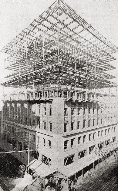 fiore-rosso:  adler & sullivan | the construction of the wainwright building [st. louis, missouri].