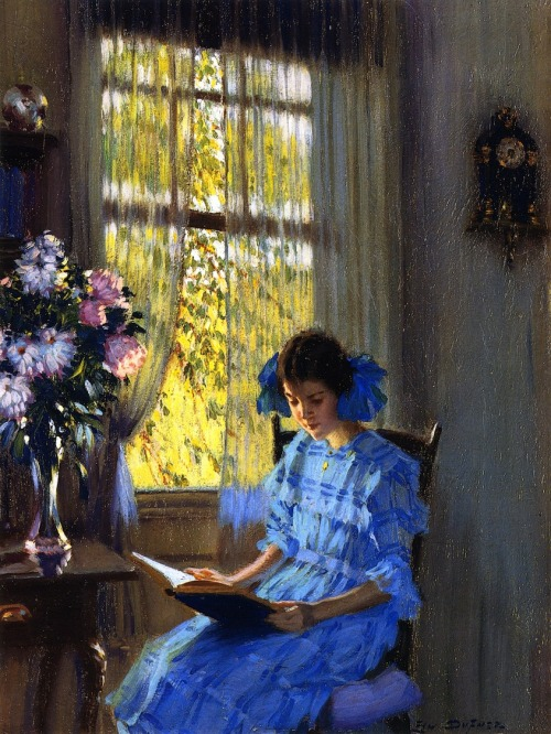 labellefilleart:  Margaret by the Window, Edward Dufner