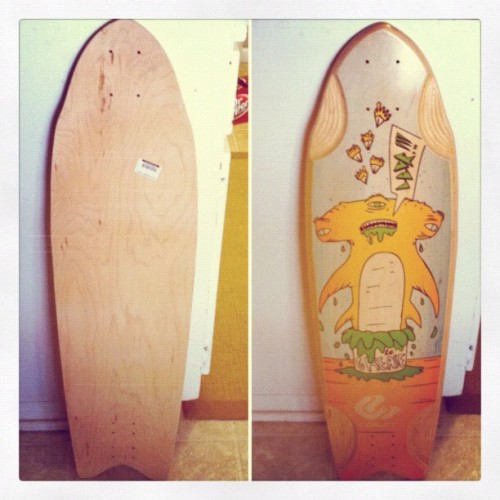 Got my new board today! #comet #greasehammer #longboard  (Taken with instagram)