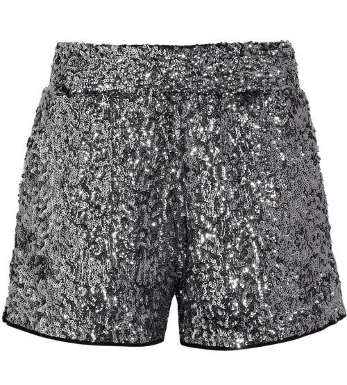 A little glitz for every hour of the day.  Karl Sabine sequined shorts, $81 (was $270), net-a-porter.com