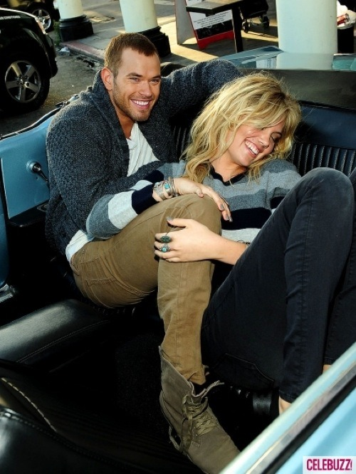 PIC OF THE DAY: Don't Kellan Lutz and Kate Upton look cozy together on set of their new joint fashion shoot!? More pics of the model-twosome here!