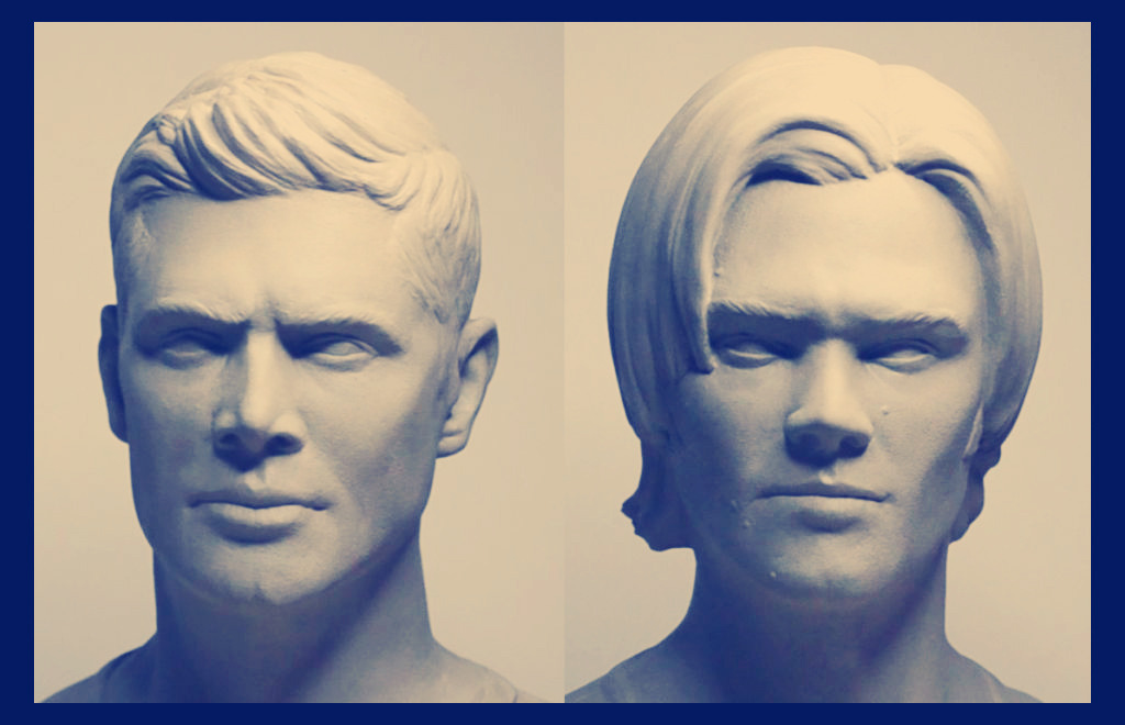 Dean & Sam Busts by Wayne Adams @willowswarlok