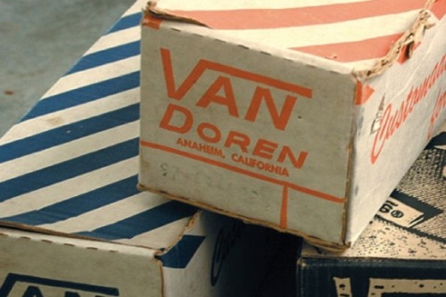 I remember the old Van Doren boxes and stickers. And the smell of fresh rubber and canvas. Unmistakably Vans.   As kids we actually called them 'Van Dorens', not just 'Vans'. Running, skating, doing anything in them until they got holes, and my mother would get angry for ruining another pair.