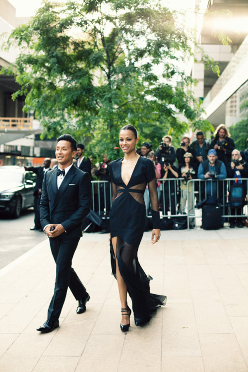 Wedding Party Dresses    CFDA Awards - Zoe Saldana