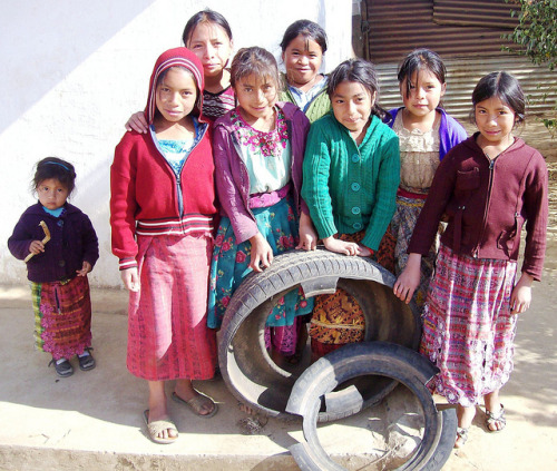 Tire Garden 5 on Flickr.A Peace Corps Volunteer trained more than 30 girls in Guatemala to create vegetable gardens in recycled car and truck tires, and held a cooking and nutrition class with the food they generated.
