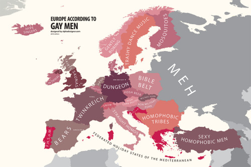 Europe according to gay men!
