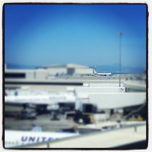 Air Force One up in here. That means we're delayed. (Taken with Instagram at San Francisco International Airport (SFO))