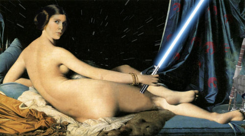 starwarsgonewild:  Princess Leia in Grande Nerdalisque by =Strange-1
