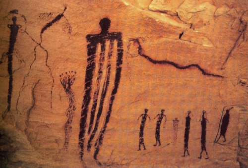 cavetocanvas:  Rock painting from San Raphael Swell, c. 2000 - 1000 BCE