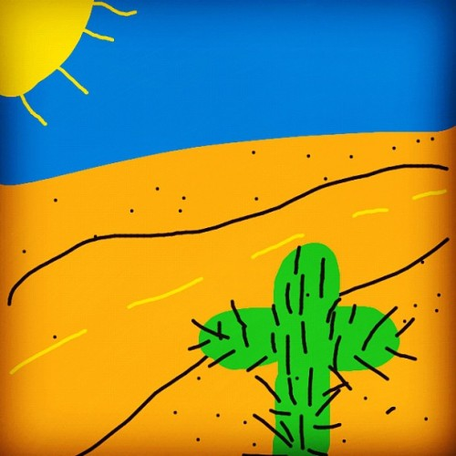 This is how it's feeling like in Houston. #drawsomething #bored #cactus (Taken with Instagram at Lone Star College - University Park Financial Aid)