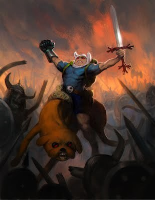 Frank Frazetta style Adventure Time fanart is epic. #art