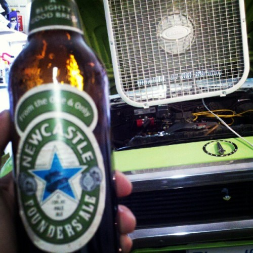 Can't work on cars without the beers!  (Taken with instagram)
