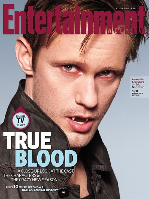 True Blood | Entertainment Weekly Alan Ball on season 5:  What would a vampire theocracy be and how would you justify it? What kind of impact would it have on humans?  All 11 coversCast portraits