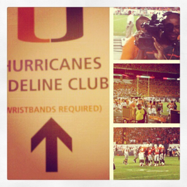 #SPORTS - #Canes #Football 2011…we sucked, but the sidelines were a blast! (Taken with instagram)