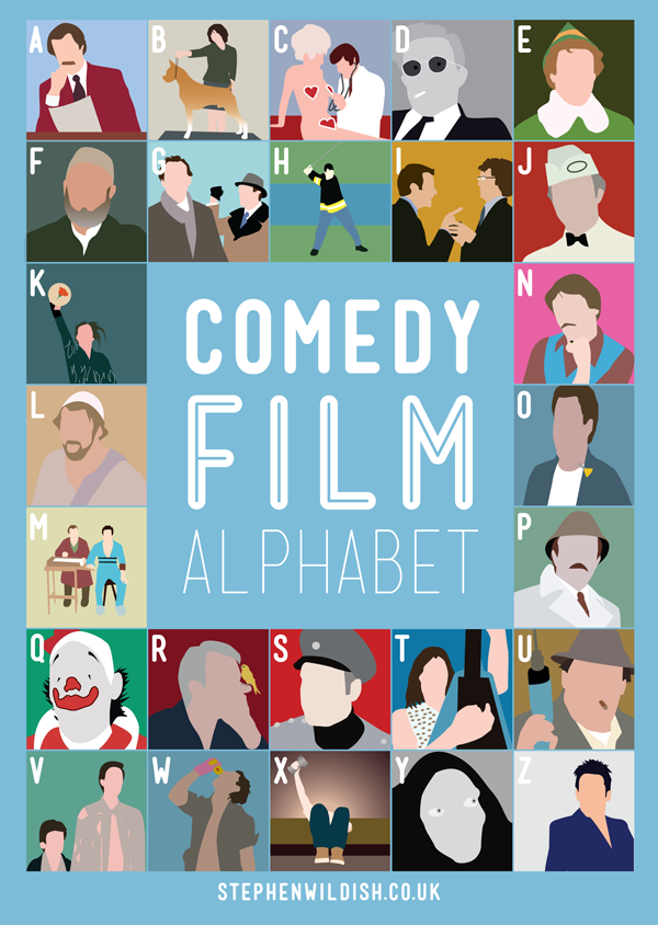 laughingsquid:  Comedy Film Alphabet Poster Quizzes Your Comedy Movie Knowledge