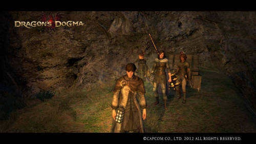 Finally, here are some pictures of me and my pawn Myrenna in Dragon's Dogma. She's the tall one with the giant golden hammer. The two short girls are other people's pawns I've hired. They're small, but they still pack quite a punch.