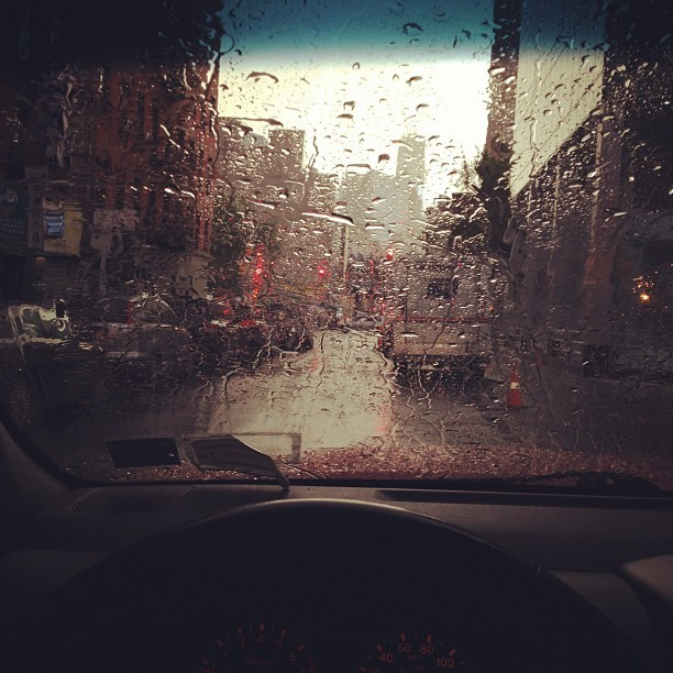 Rain in the LES. Shot sucks.#les #nyc  (Taken with instagram)