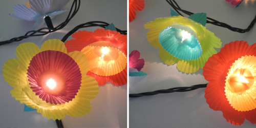 crafty-licious:  Cupcake Flower Lights