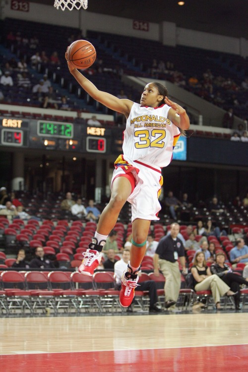 FLASHBACK: Maya Moore takes the ball in for a layup during the 2007 McDonalds All-American Game.