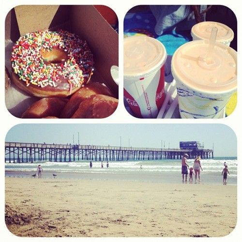 Tanning at the beach and eating some Seaside ☀🐚🏊🏄 (Taken with instagram)