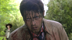 Get out of there, Carl! Castiel has gone drunk with Leviathan power!
