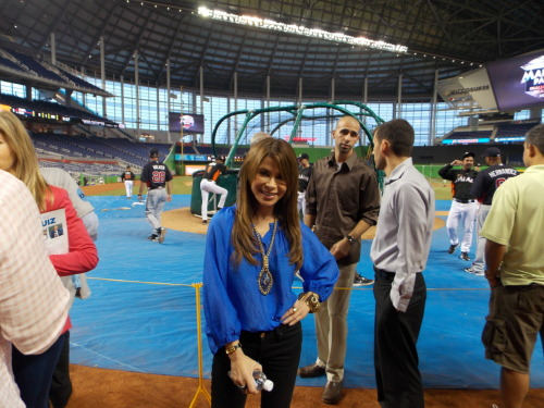 Paula Abdul is in the house at Marlins Park!