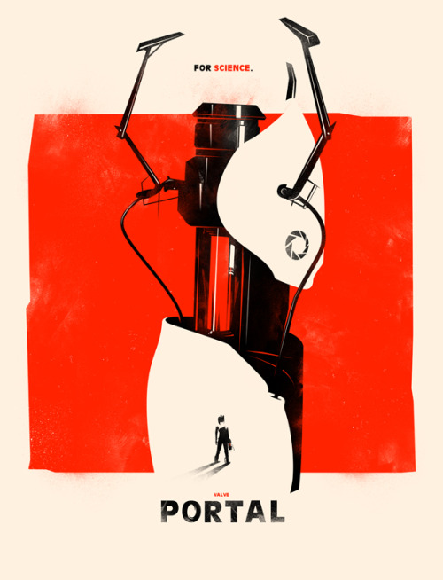 videogamenostalgia:  New print! The Orange Box: Portal (via: iwilding)
