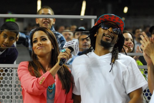 Whaaat!? Hip hop artist Lil' Jon is in the building at Marlins Park tonight. Okayyy!