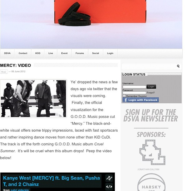Visual for Mercy just hit http://www.deadstocksva.com peep it! #kanye #ye #pushat #bigsean #2chainz #goodmusic #mercy #Lamborghini    (Taken with instagram)