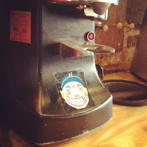 #sticker on the #mazzer (Taken with instagram)