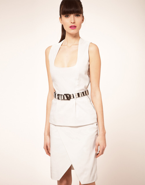 Preen Line Alice Dress With Zebra BeltMore photos & another fashion brands: bit.ly/JhJlCR