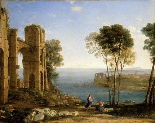 Coast View with Apollo and the Cumaean Siby (1645-1649) by Claude Lorrain