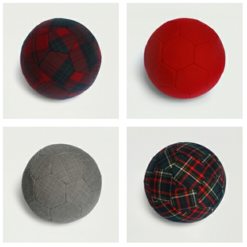 designoclock:  Textile footballs made from wool fabrics   There should be one made to match the personality of every country.  That's an idea for Seth Blatter, World Cup 2014 Brazil.