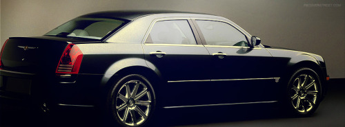 Black Chrysler 300C Facebook Cover