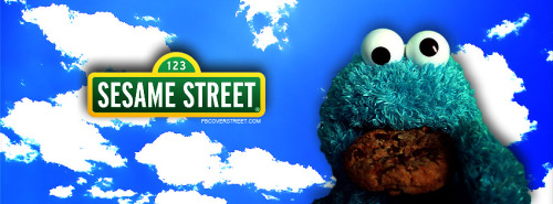 Cookie Monster Sesame Street Facebook Cover