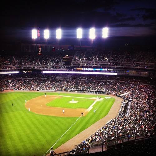 Go Tribe! #Cleveland #Indians vs #Detroit #Tigers. (Taken with instagram)