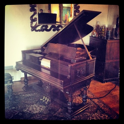 One of two pianos, worth around twelve million doll hairs. (Taken with instagram)