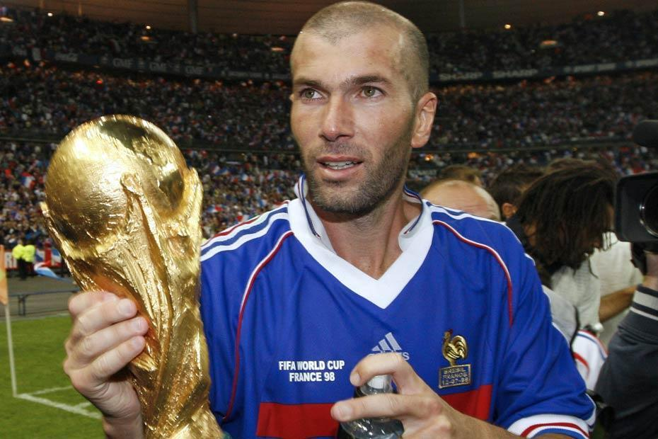 Zinédine Zidane, World Cup winner, July 12, 1998. Source: Europe 1